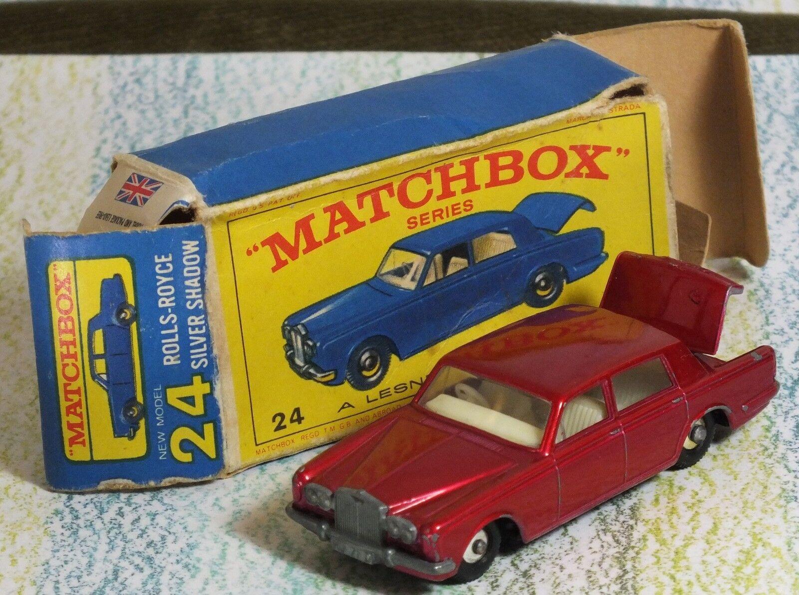 los últimos modelos Matchbox Lesney     24c Rolls Royce Plata Sombra Rojo Metálico Caja Casi Nuevo buenas  Seleccione de las marcas más nuevas como
