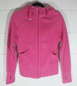 e26be98e2ae0a Details about Zella Womens Medium Hoodie Sweatshirt Jacket Thumbhole  Athleisure Pink