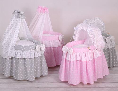 Puppen stubenwagen mit himmel farbe rosa weiss eur 88 99 picclick de
