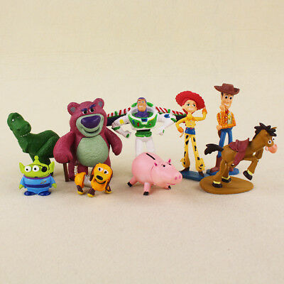9Pcs Toy Story 3 Action Figures Doll Woody Buzz Lightyear Rex Toy For Kids Gift