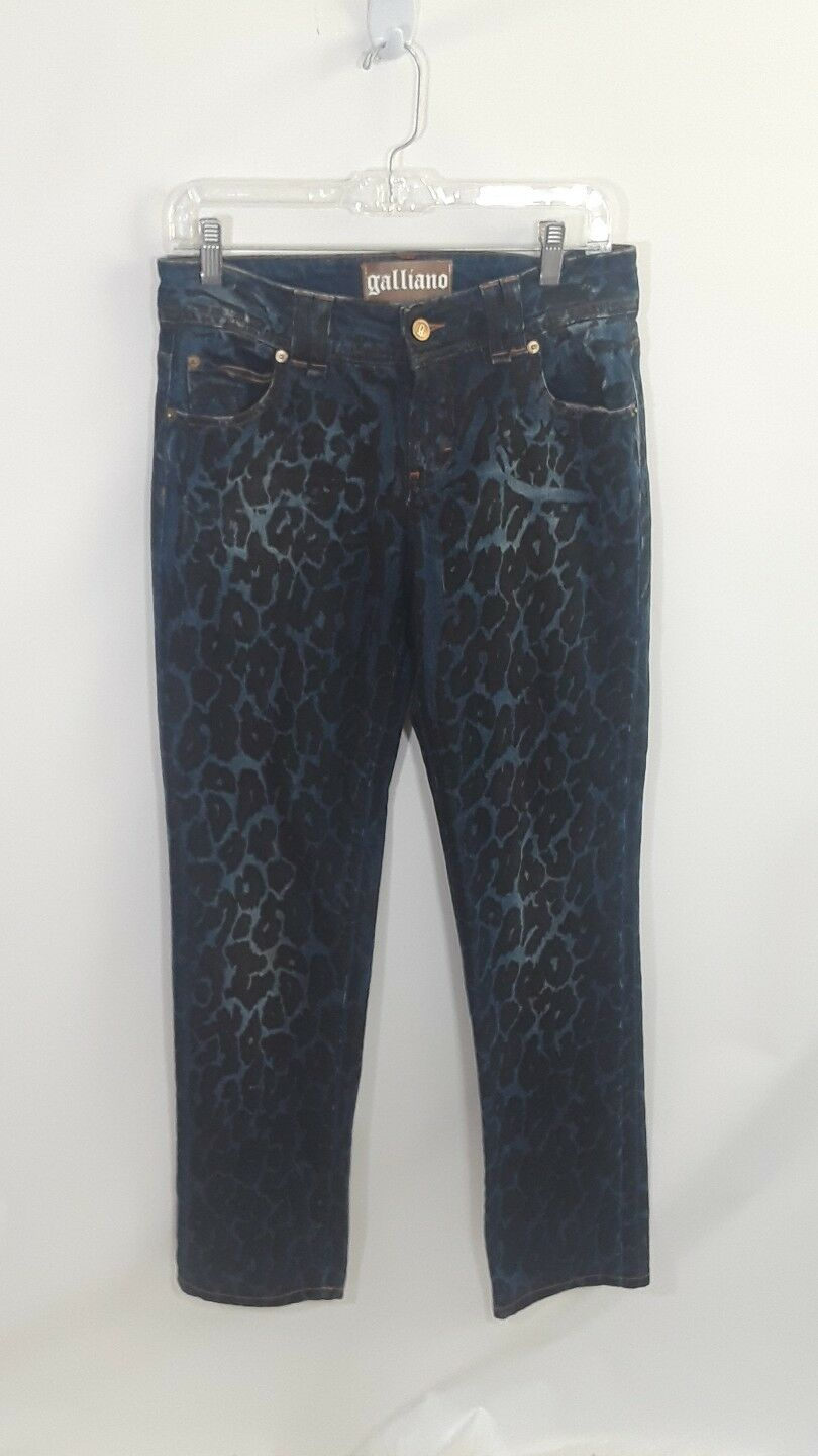 Galliano Jeans rare  Glitzy  Animal Print Size 30