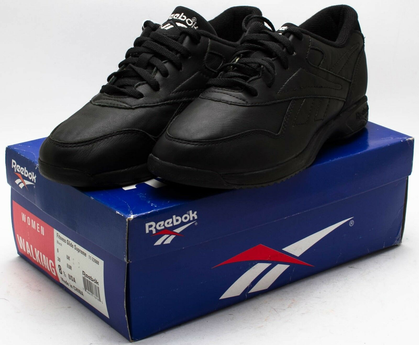 Reebok Women's Vintage 1992 Fitness Glide Supreme shoes 11-22688 Black sz. 8.5