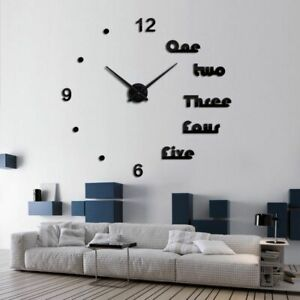 Acrylic-Wall-Clocks-Quartz-Watch-Home-Decoration-Modern-Mirror-Effect-3D-DIY-New