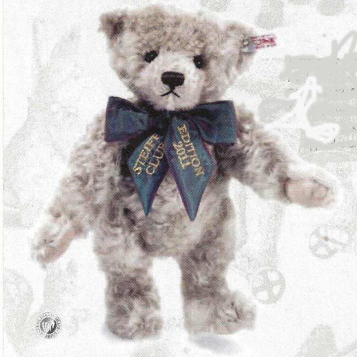 STEIFF  STEIFF CLUB ANNUAL EDITION 2011  EAN 421143 grigio MOHAIR 30 CM BEAR