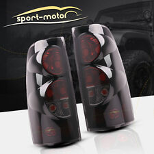 for 99-06 Chevy Silverado 99-03 GMC Sierra Tail Lights Black Smoke Rear Lamps