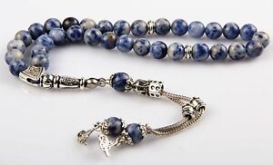 Islamic Prayer Beads, Aventure Stone, Turkish tasbih 8 mm, 33 Beads Tesbih
