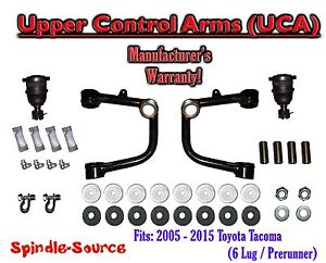 UPPER CONTROL ARMS UCA, fits 2005 - 2021 Toyota Tacoma 6 Lug / Prerunner 2WD 4WD