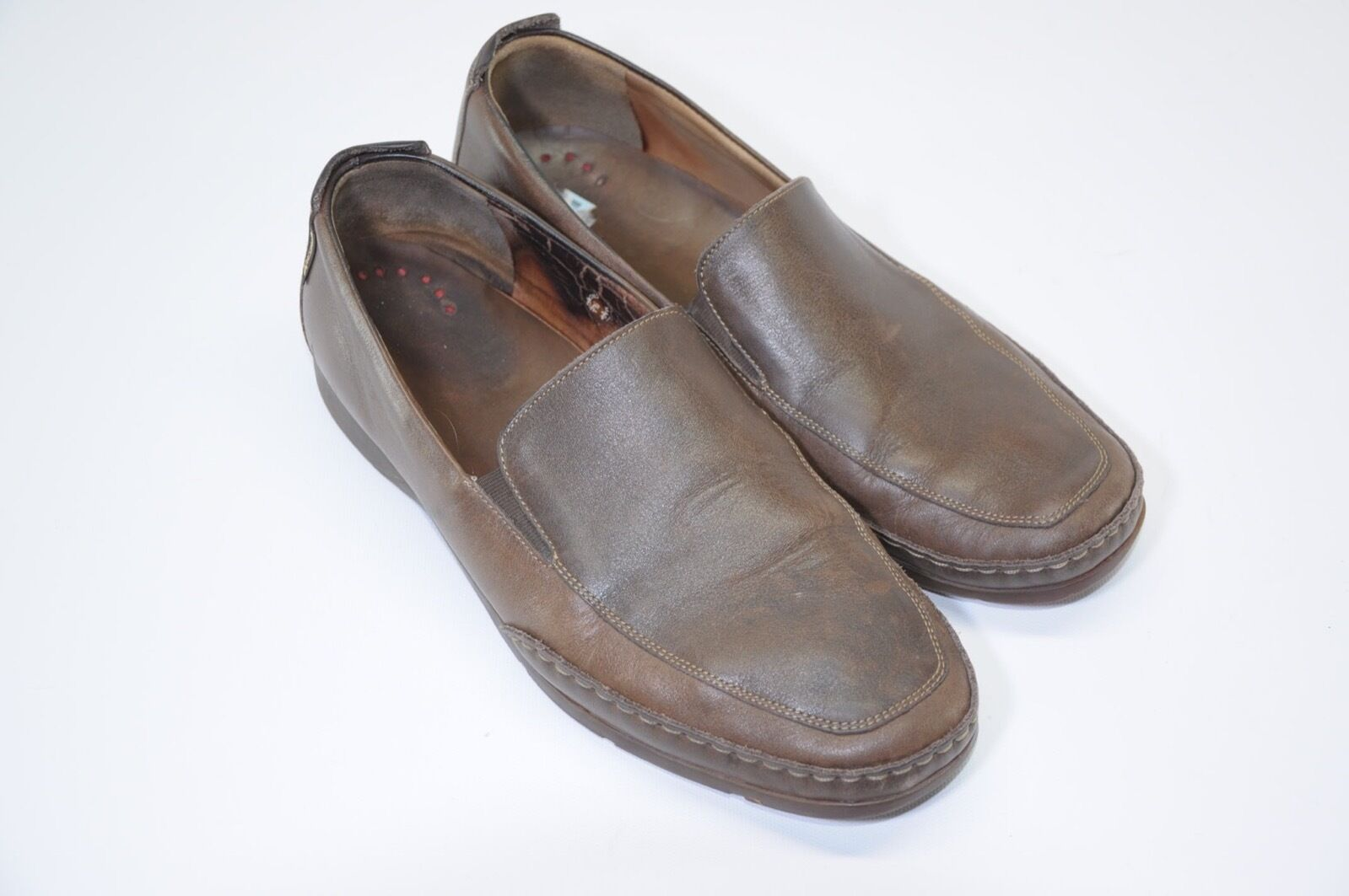 MEPHISTO Cool Air Soft Latex Technology Brown Pelle Uomo's Slip On Loafers 9.5