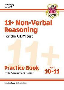 CEM Non-Verbal Reasoning Practice Book /& Assessment Tests New 11 with Online Edition Ages 9-10