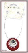 BELLISSIMO marrone e Collana con Pendente d'argento da Laura Ashley. prezzo BIGLIETTO £ 16!!!