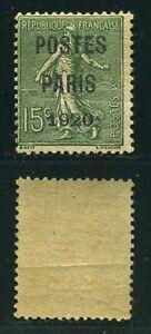 FRANCE-PREO-N-25-034-SEMEUSE-15c-POSTES-PARIS-1920-034-NEUF-xx-A-VOIR