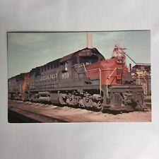 LMH Postcard  LOUISVILLE NASHVILLE Railroad L/&N 368 Alco FA1  LEAWOOD Roundhouse