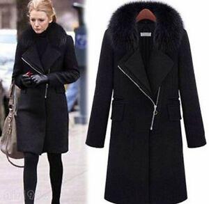 ull Outwear Parkas Collar Blend Thick Coat Long Faux Kvinders Fur Winter Jacket OnvPTAIx