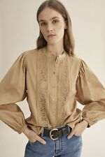 Country Road Lace Trim Shirt - Sandstone