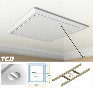 Timloc 1169 White Loft Hatch Insulated Hinged Drop Down Access ...
