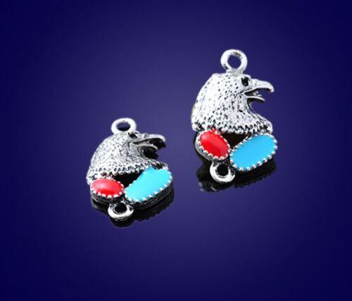 eagle connector Ornaments PJ1480 2PCS Tibetan Silver Jewelry Accessories