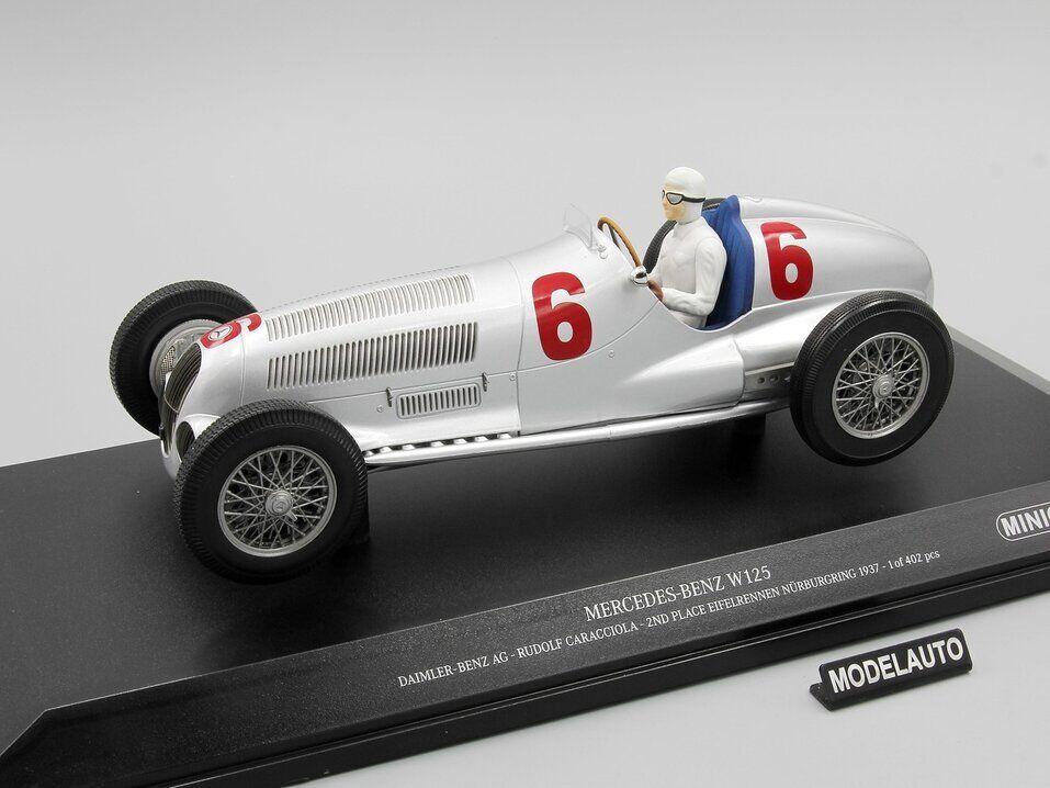 mejor opcion 1 18 Minichamps Mercedes W125 Rudolf Rudolf Rudolf Cocheaciola 2nd lugar nuerbrgring, 1937  venta caliente