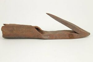 Antique-Bulgarian-Handforged-Iron-Harpoon-Head-19-Century