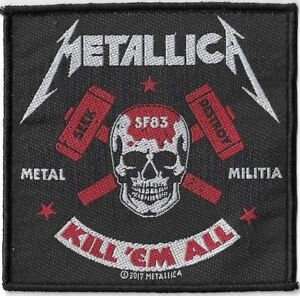 Official-Licensed-Merch-Woven-Sew-on-PATCH-Heavy-Rock-METALLICA-Metal-Militia