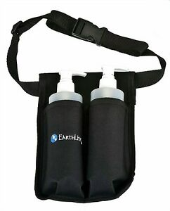 Earthlite-Double-Massage-Oil-amp-Lotion-Holster-2-x-8-Oz-Pump-Bottles-Included