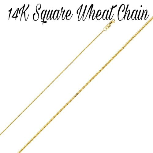 14K Solid Yellow Gold Chains Necklace Box//Snake//Mariner//Wheat Chain Lobster Lock