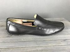 Mens Clarks Black Leather Driving Moccasin Driver Moc Loafer Slip On 10 Casual