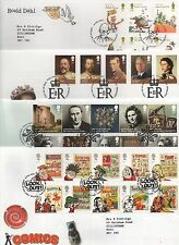 GB 2012 Set 11 Commemorative FDC's Philatelic Bureau Edinburgh postmark stamps