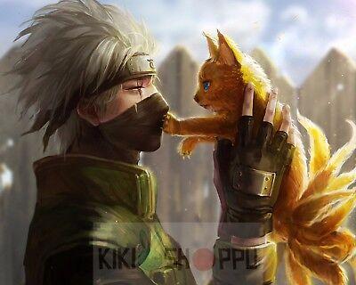 Poster A3 Naruto Shippuden Hatake Kakashi Manga Anime Cartel Decor Impresion 03