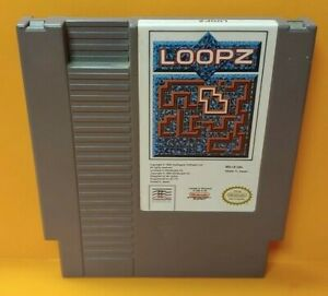 Loopz-Nintendo-NES-Game-Rare-Tested-Works-Great-Authentic