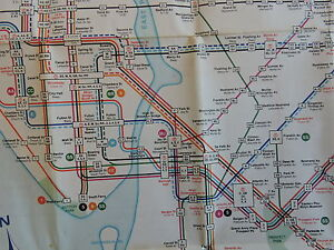 Nyc Subway Map On Business Card.Details About Orig 1968 New York City Nyc Subway El Transit Train Map