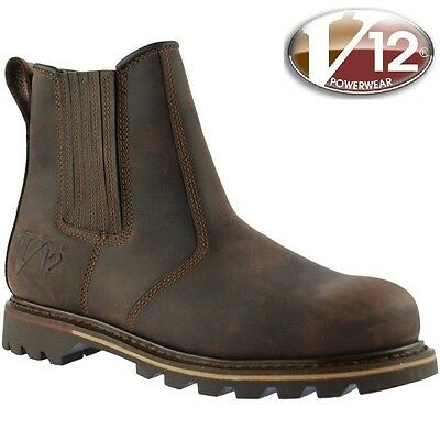 2018 sneakers latest fashion online here V12 RAWHIDE V1231 DEALER CHELSEA SAFETY STEEL TOE CAP MIDSOLE WORK BOOTS UK  6-13   eBay