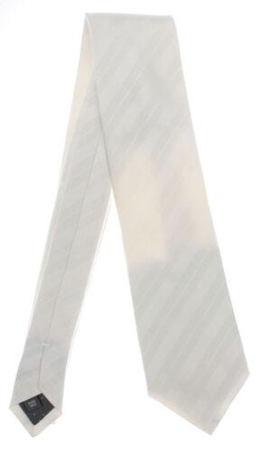 Seidenkrawatte gestreift weiss 100/% Seide Krawatte Monti Mode aus Italien