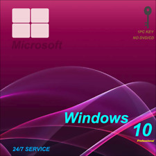 INSTANT WINDOWS 10 PROFESSIONAL PRO 32 64 BIT GENUINE ACTIVATION KEY MICROSOT