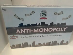 Anti- Monopoly-  The Real Estate Trading Game for the 21st Century  (BRAND NEW)