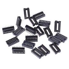 20pcs 16pin Ic Socket Adaptor Solder Type Socket Pitch Dual Wipe Contact Hm