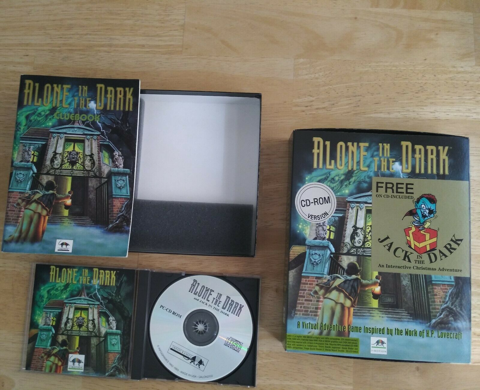 Alone In The Dark Cd Rom Pc 1993 For Sale Online Ebay