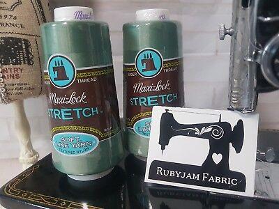 SEAFOAM Maxilock Stretch Overlocker Thread solid colour woolly nylon