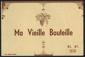 Etiquette Ancienne d/'époque Neuve de Vin GUIGONE DE SALINS Hospices de Beaune