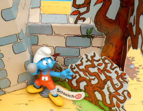 20742 Schtroumpf lanceur de poids  smurfs puffo puffi schtroumpfette 2012 rare