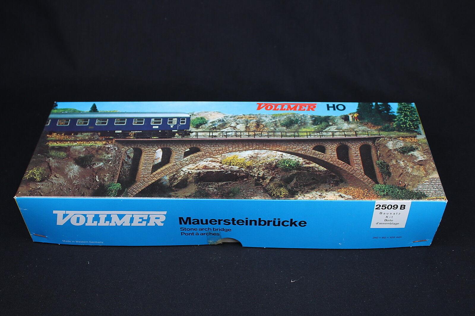 W282 Vollmer HO Train Model 2509 B Bridge Arc Plastic Stone Arch Bridge