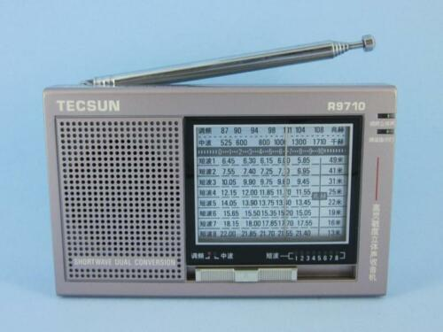 TECSUN R9710 Gray FM//MW//SW Dual Conversion High Sensitivity Portable Radio