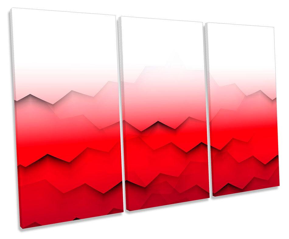 Abstract Modern Waves TREBLE CANVAS Wand Kunst Box Framed Drucken