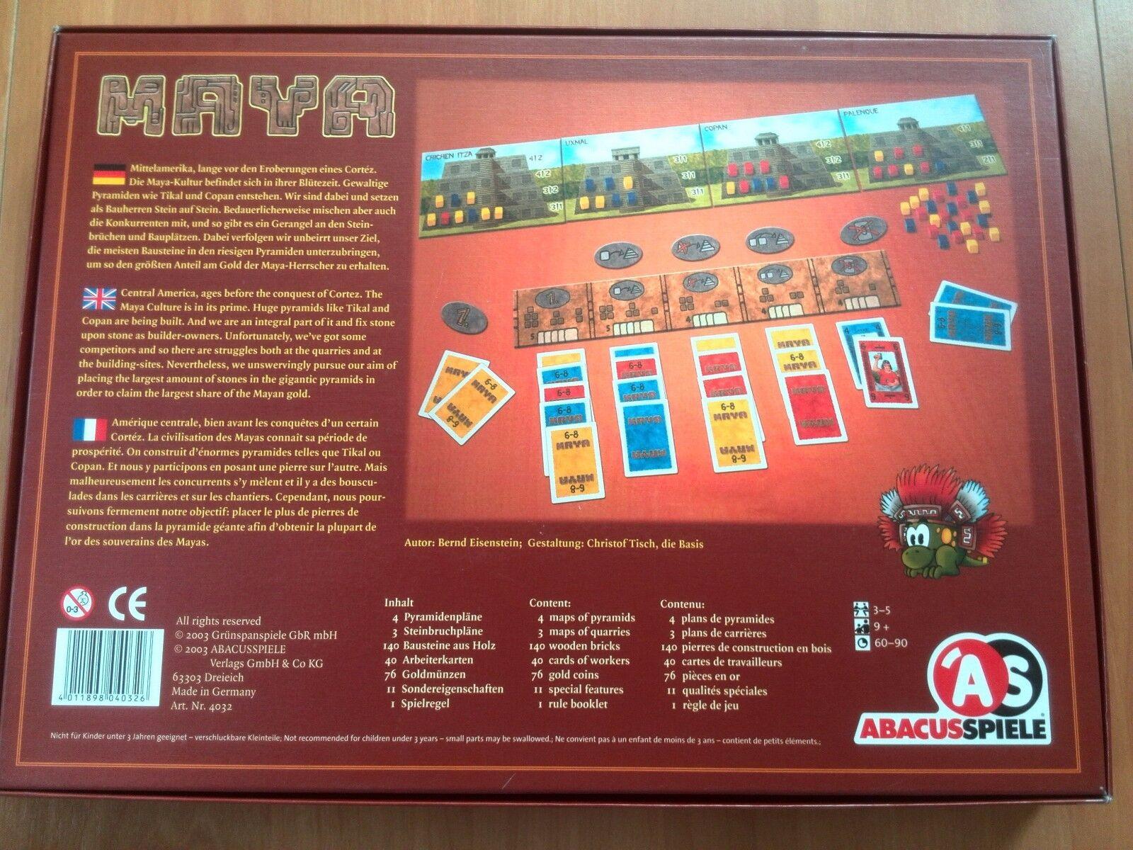 Maya jeu jeu jeu de plateau Abacus Jeux 2dcbd7