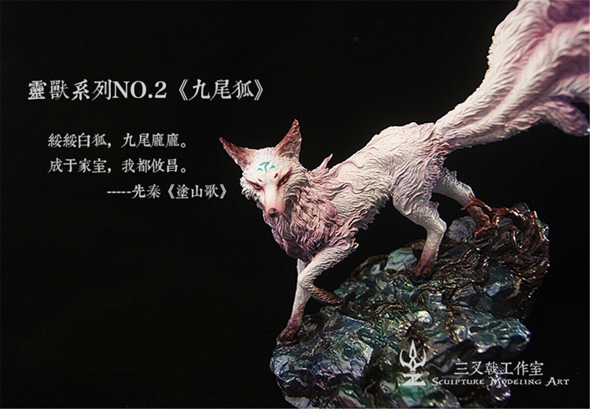 Gumiho Statue Animal Animal Animal Collector Fox GK giocattolo The classeic of Mountains e Rivers 7cf74d