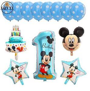 13 Palloni TOPOLINO MICKEY MOUSE DISNEY baby 1 compleanno festa party