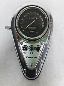03 - 09 Kawasaki Vulcan EN500.  01 - 05 VN800 OEM Speedometer Gauge. Only 12k MI
