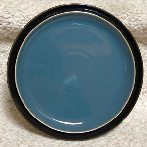 Denby-DUETS-BLACK-amp-BLUE-Salad-Plate-8-1-2-034-EXCELLENT-Last-One