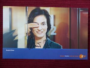 MAYBRIT ILLNER Autogramm 15x25 cm ZDF Autogrammkarte