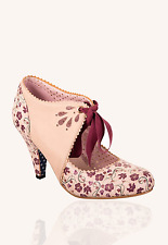 Banned Mary Beth 50s Rockabilly Heels Mary Jane Floral Shoes Vintage Style 6