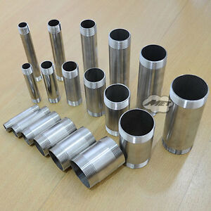 1-2-034-2-034-Male-Stainless-Steel-304-Threaded-Pipe-Fitting-SS304-L-75-100-150mm-BSPT
